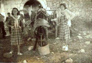 El descans del matxo amb carro. 29 agost c.1953