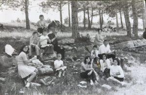 Escampats pel pinar de Penyagolosa. 24 juny 1972